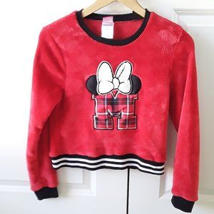 Disney Minnie Mouse Red Fleece Pullover